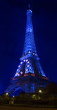 Torre Eiffel en la noche Imagen de archivo libre de regalías
