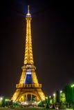 Torre Eiffel en la noche fotos de archivo libres de regalías