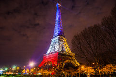 Torre Eiffel en la noche Fotografía de archivo