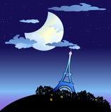 Torre Eiffel en la oscuridad Imagen de archivo