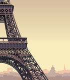 Torre Eiffel en la puesta del sol Fotos de archivo libres de regalías