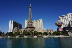 Torre Eiffel en Las Vegas Foto de archivo libre de regalías