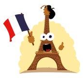 Torre Eiffel engraçada Fotos de Stock Royalty Free