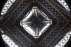 Torre eiffel EOS Rebel. Photo taken from the floor of the Effel Tower. Spring 2016 Royalty Free Stock Photography