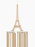 Torre Eiffel, estilo no conceito de papel Recycle ilustração royalty free