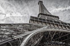 Torre Eiffel extraordinariamente de par en par Fotografía de archivo