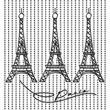 torre Eiffel famosa di migliore posto della Francia royalty illustrazione gratis