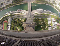 Torre Eiffel Gopro. Photo taken from the last floor of the Eiffel Tower. Spring 2016 Royalty Free Stock Images