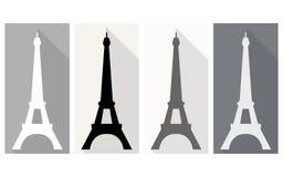 Torre Eiffel Icono plano Imagen de archivo