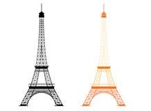 Torre Eiffel - monumento famoso em Paris, França Fotos de Stock