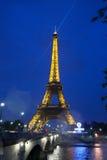Torre Eiffel na noite Foto de Stock