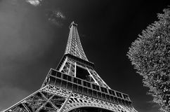 Torre Eiffel (negro y blanco) Foto de archivo libre de regalías