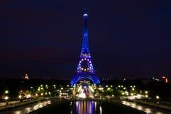 Torre Eiffel nell'agosto 2008 Fotografia Stock