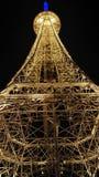 Torre Eiffel nella città di Nantong Haimen (Jiangsu, Cina) fotografia stock libera da diritti