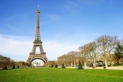 Torre Eiffel nella città di Parigi, Francia Fotografie Stock Libere da Diritti
