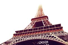 Torre Eiffel nella seppia Fotografie Stock