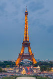 Torre Eiffel no crepúsculo Fotografia de Stock Royalty Free