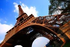 Torre Eiffel in nube Fotografie Stock