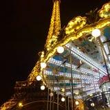 Torre eiffel och caroussel Royaltyfri Foto