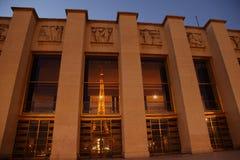 Torre Eiffel os indicadores de Trocadreo \ 'de s Fotos de Stock