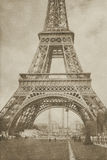 Torre Eiffel Parigi dell'annata Fotografia Stock Libera da Diritti