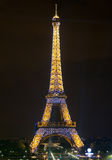 Torre Eiffel Parigi, esposizione chiara Fotografia Stock
