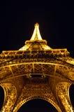 Torre Eiffel Parigi Francia alla notte Fotografia Stock