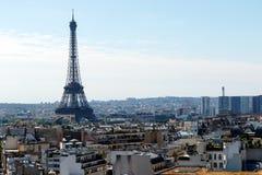 Torre Eiffel, Parigi, Francia, con orizzonte Fotografia Stock Libera da Diritti