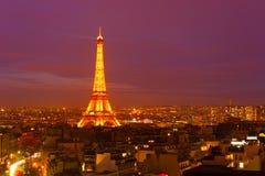 A torre Eiffel, Paris Imagens de Stock