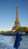 Torre Eiffel, Paris, no por do sol de Seine Imagens de Stock Royalty Free