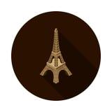 Torre Eiffel plana del icono isométrica Fotografía de archivo libre de regalías