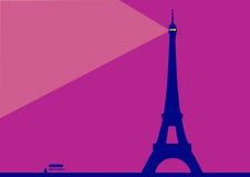 Torre Eiffel por noche stock de ilustración