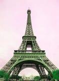 Torre Eiffel - retro cartolina disegnata Fotografie Stock Libere da Diritti