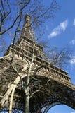 Torre Eiffel in sorgente in anticipo Fotografia Stock Libera da Diritti
