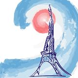 Torre Eiffel stilizzata Fotografie Stock Libere da Diritti