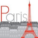 Torre Eiffel sui precedenti della città royalty illustrazione gratis