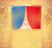 Torre Eiffel - tarjeta del vintage Fotos de archivo