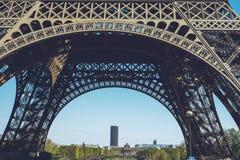 Torre Eiffel - tiro di viaggio delle passeggiate della città di Parigi Francia Fotografia Stock Libera da Diritti