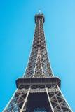 Torre Eiffel - tiro di viaggio delle passeggiate della città di Parigi Francia Immagini Stock Libere da Diritti