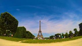 Torre Eiffel, vídeo del time lapse de París, Francia almacen de video