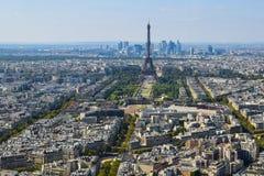 Torre Eiffel vista da plataforma de observação da torre de Montparnasse foto de stock