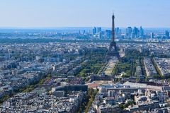 Torre Eiffel vista da plataforma de observação da torre de Montparnasse imagem de stock royalty free