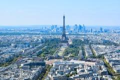 Torre Eiffel vista de plataforma de observación de la torre de Montparnasse imágenes de archivo libres de regalías