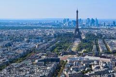 Torre Eiffel vista de plataforma de observación de la torre de Montparnasse imagen de archivo libre de regalías