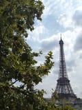 Torre Eiffel y árboles de París Fotografía de archivo