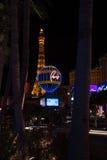 Torre Eiffel y hotel París Fotografía de archivo