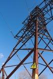 Torre eléctrica de alto voltaje Imágenes de archivo libres de regalías