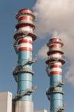 Torre eléctrica de la central del generador Fotos de archivo libres de regalías