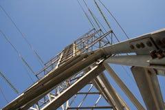 Torre eléctrica del ángulo Imagen de archivo libre de regalías
