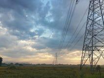 Torre elétrica da paisagem Imagens de Stock Royalty Free